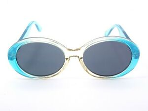 Womens-Oversize-Sunglasses-Clear-Blue-Frames-Colourful-Boho-Style-100-UV