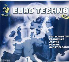 The World Of Euro Techno - 2CD - TECHNO HARD TRANCE