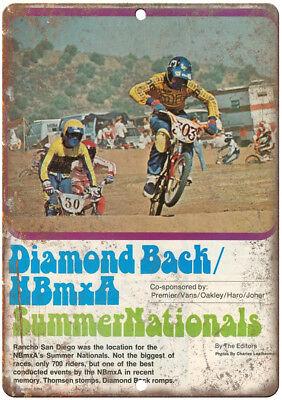 "racing Harry Leary RARE ad 10/"" x 7/"" retro metal sign B151 Diamond Back BMX"
