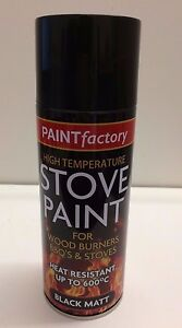 High Temp Stove Spray Paint Black Matt 400ml Wood Burners Bbq 39 S Stoves Ebay