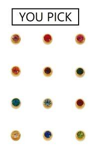 Studex Birthstone Piercing Earrings 12