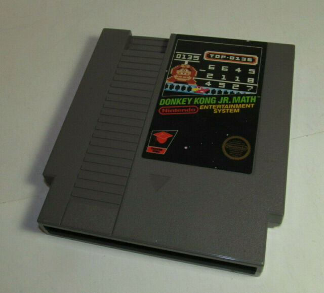 Donkey Kong Jr. Math (Nintendo Entertainment System, 1985) NES Authentic Game
