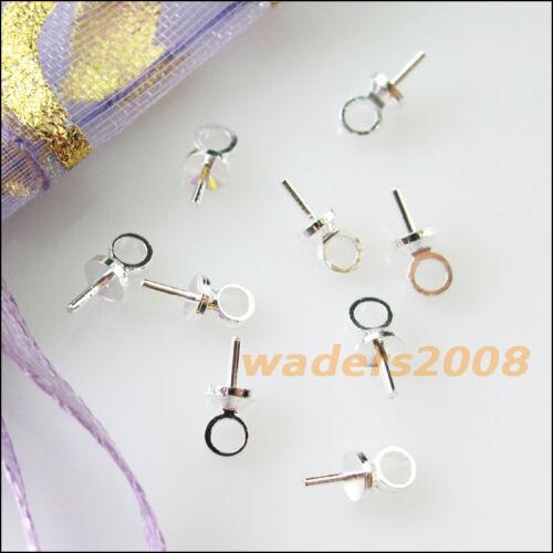 150 nouveaux Connecteurs Tige a oeil perle Pendentifs Charms avec 2.5mm Tasse À faire soi-même 2.5x6.5mm