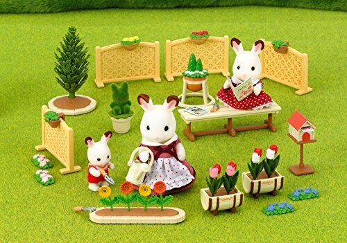 Sylvanian Families Calico Critters Relaxation RoomSet Family Garden Se-155 JAPAN