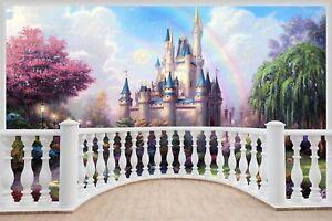 Huge-3D-Balcony-Fantasy-Castle-Princess-Prince-Wall-Stickers-941