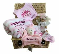 Personalised Luxury Baby Gift Hamper With Ribbon & Tag - Great Baby Gift
