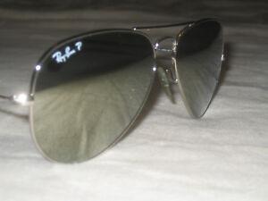 ray ban aviator polarized 58