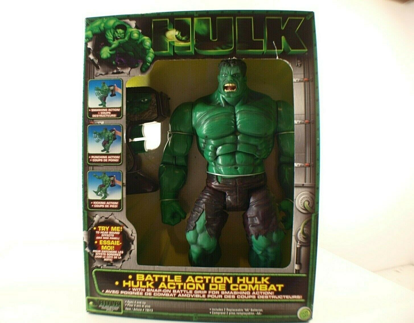HULK Battle Action Hulk Toy Biz IDEAL n° 70513 neuf en boite 2003