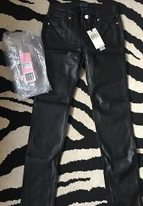 NWT-Juicy-Couture-Girls-Faux-Leather-Skinny-Tight-Pant-Size-10
