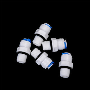 """5X 1/4"""" Push Fit Tubex1/4"""" Thread Male Quick Connect RO Water Reverse OsmosisAJa"""