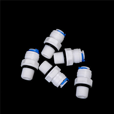 """5Pcs Push Fit Tube x1//4/""""Thread Male Quick Connector RO Water Reverse Osmosis P0"""