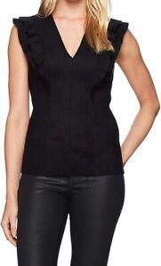 Bailey-44-Women-039-s-Blouse-Black-Size-Large-L-Goldilocks-Ruffle-Sleeve-168-036