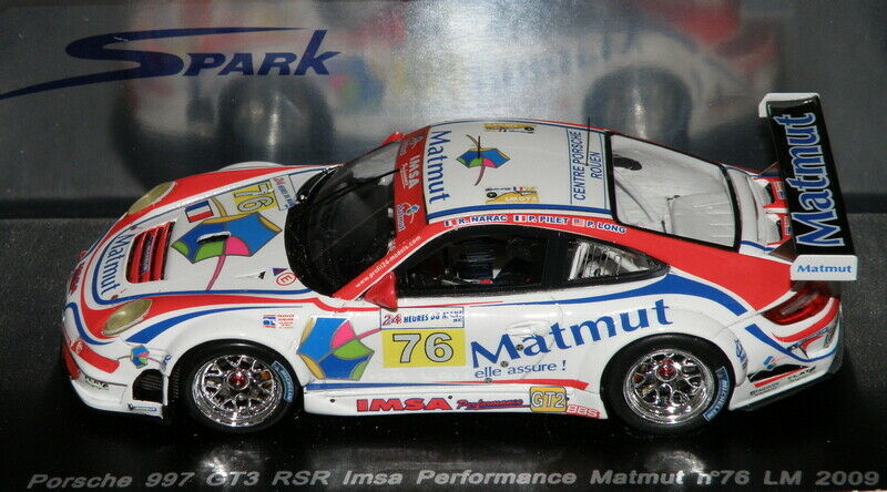 Porsche 911 997 GT3 RSR 24H du MANS LM 2009 SPARK 1 43   S1954