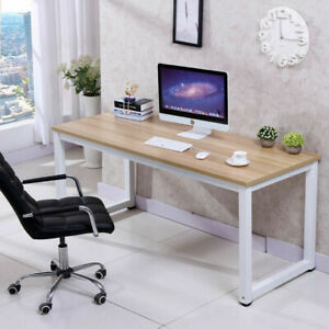 Wood-Computer-Desk-PC-Laptop-Table-Workstation-Study-Home-Office-Black-Brown