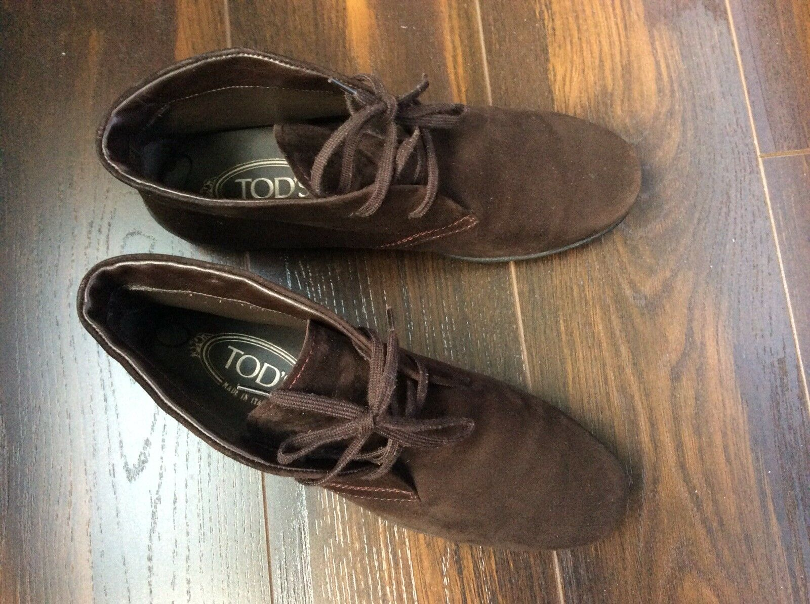 Tods Womens Brown Suede Suede Suede Leather Driving Ankle Boots SIZE 6.5 Made In  5a9bc8