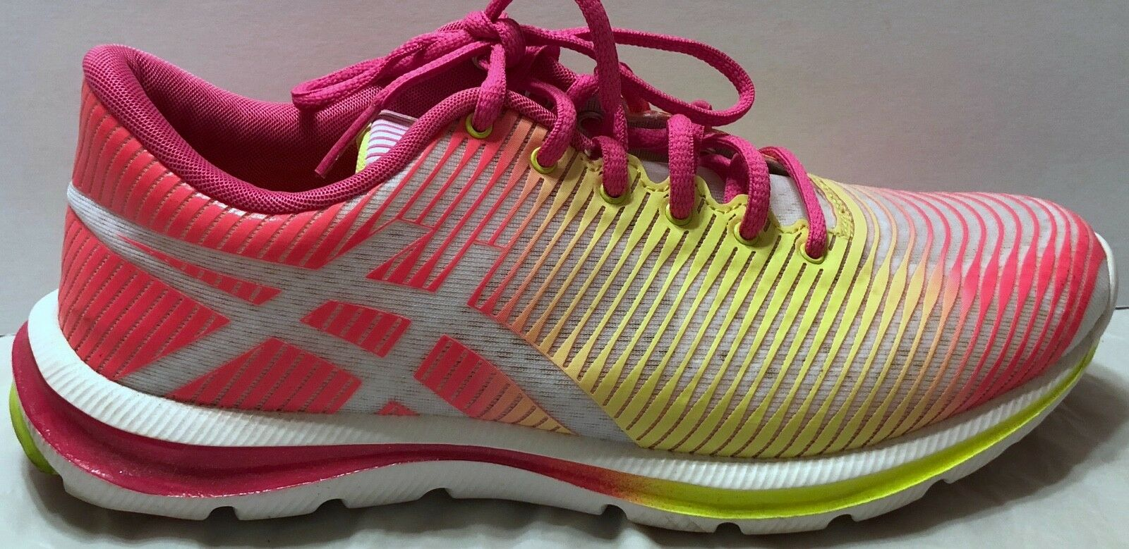 Asics 33 Fluid Axis Pink Pink Pink Yellow Multi-Farbe Running Schuhes Größe 7.5 Bright Neon 7ba4b3