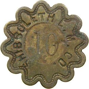 CADET, MO, Shibboleth Lead Mining, Late 1800s, 10¢ Company Store Scrip, Unlisted