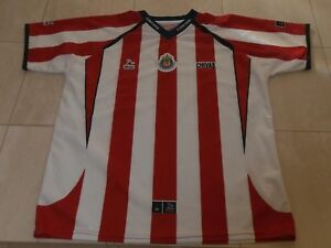 quality design facdb 3fec7 Details about CHIVAS DE GUADALAJARA FOOTBALL CLUB RED & WHITE JERSEY  REPLICA BY ALEXIS MEN L