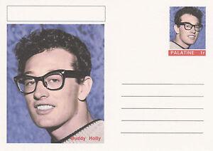 CINDERELLA - 4452 - BUDDY HOLLY on Fantasy Postal Stationery card