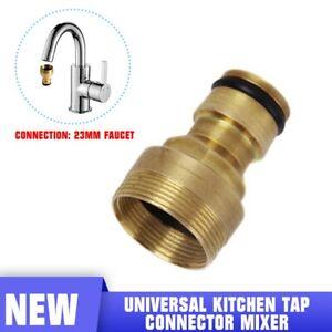 Kitchen Mixer Tap To Garden Hose Pipe Connector Adapter Indoor Outdoor Universal Ebay
