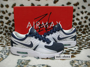 best loved f6257 60a09 Image is loading 2015-NIKE-AIR-MAX-ZERO-QS-WHITE-MIDNIGHT-