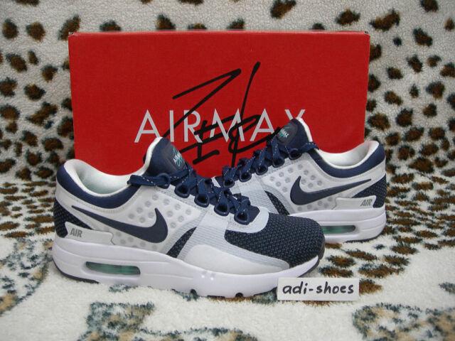 ca1033c558b1 Nike Air Max Zero QS White midnight Navy UK 3 5 US 4 Patch 789695 ...