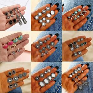 12Pairs-Set-Women-Vintage-Turquoise-Earrings-Jewelry-Ear-Stud-Boho-Jewellery