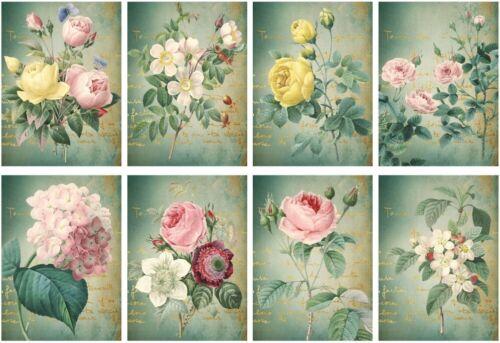 Decoupage-Bastelpapier-Softpapier-Vintage-Nostalgie-shabby-Blumen-12448