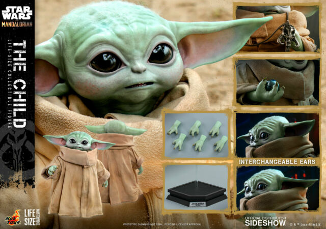 Hot Toys Star Wars The Child Grogu Life Size Figure The Mandalorian LMS013