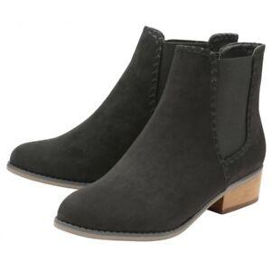 Low 8 Memory Black Foam Uk Ladies Boots Western Heel Chelsea Pasha Ankle Dolcis Iw7xq0UZ