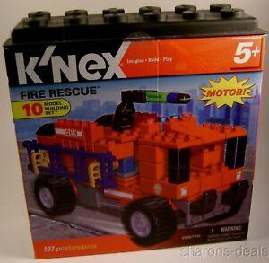 K-039-NEX-Fire-Rescue-10-Model-Building-Set-Motor-Imagine-Build-Play-Toy-KNEX-127-pc