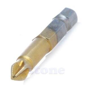 "5X Titanium Coated 1//4/"" Hex Shank PH2 50mm Anti Slip Electric Screwdriver Bits"