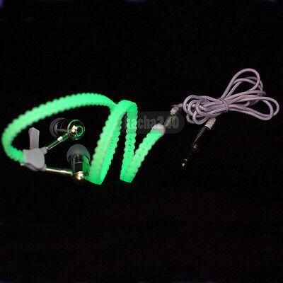 New Light Headphones Earphones Headset Luminous zipper In-Ear headphone