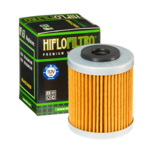 HIFLO FILTRO OLIO HF651 per KTM SMC R 690 2012 2013 2014 2015 2016 2017