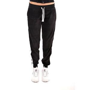 900 Pantalone Nero Ciniglia In Fila Logo Codice 9w 492014 Donna q8Ufwq7