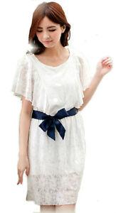 cc3189c1a539f Image is loading New-Fashion-Elegant-White-Lacy-Nursing-Breastfeeding-Dress-