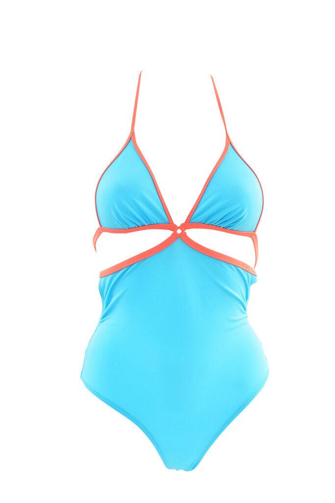 NUOVO Da Da Da Donna Agent Provocateur EMANUELLE Costume Da Bagno Blu Taglia S Prezzo Consigliato  BCF812 828e34
