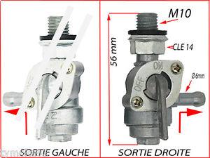 Robinet essence sortie a droite reservoir piece groupe electrogene m10 125 ebay - Robinet reservoir essence ...
