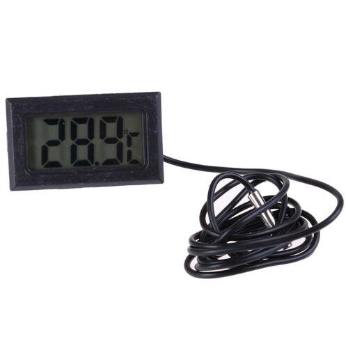 1Pc Digital LCD Display Thermometer Temperature Meter Temp Sensor With Probe VHV