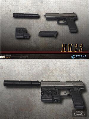 """Taser 1//6 Black Pistol Assembled Gun Model ZYTOYS X26 Fit 12/"""" Action Figure Toys"""