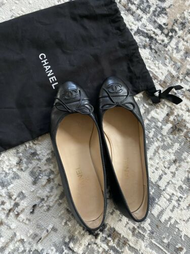 Chanel Ballerinas Black Sz 38