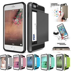 ID-Card-Shockproof-Wallet-Case-For-iPhone-XS-MAX-XR-X-8-7-6-6s-Plus-5-5s-SE-4-4s