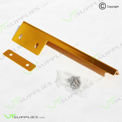 Gold Universal License Plate Re Locator Bracket JDM Registration Front Bumper