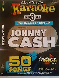 Details about CHARTBUSTER KARAOKE CDG JOHNNY CASH (5050) 3 DISC BOX SET 50  TRACKS NEW