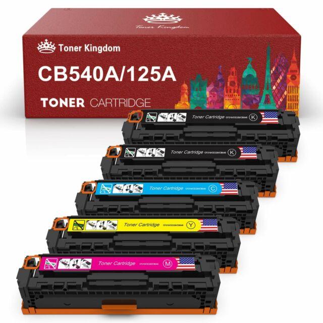 4 Pack 125A CB540A CB541A CB542A CB543A Toner Cartrige Laserjet For HP CM1312nfi