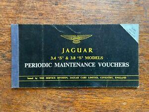"""JAGUAR Periodic Maintenance Voucher Booklet 3.4 3.8 Model """"S"""""""