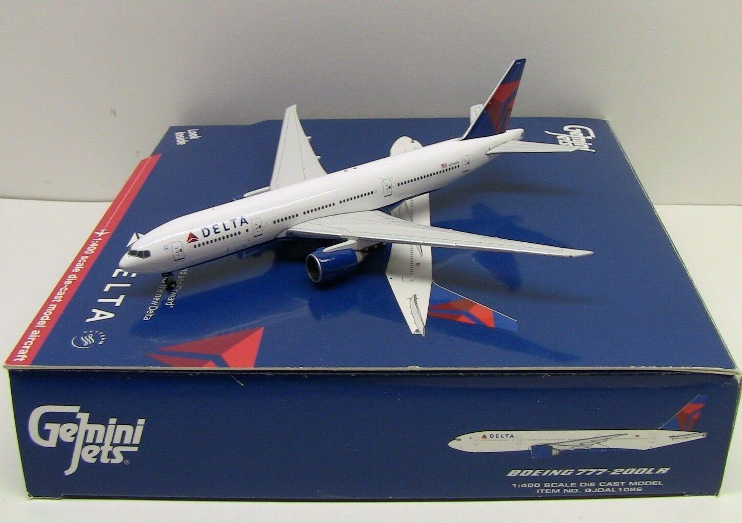 Gemini - delta air lines boeing 777-200lr 1   400 seltenes modell gjdal1026
