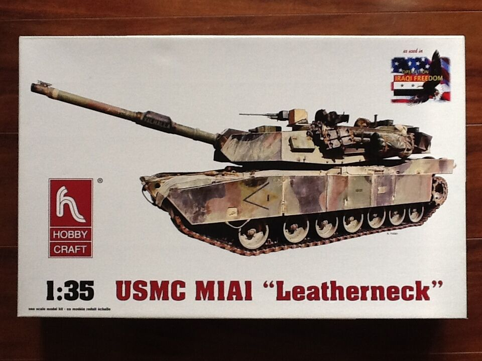 HOBBYCRAFT 1 35 AMERICAN M1A1   MARINES   MBT PLASTIC MODEL KIT BRAND NEW