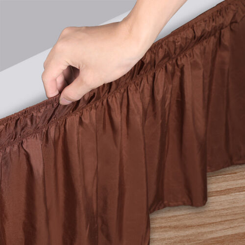 Elastic Bed Ruffle Skirt Easy Fit Wrap Around Soft Twin Full Queen King Size Bed