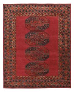 Antique-Hand-Made-Traditional-Red-Afgan-Nain-Parsian-Oriental-Wool-Area-Rug